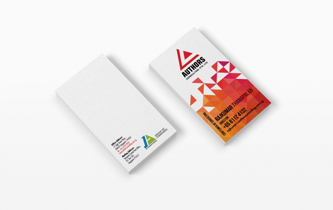 Authors Consulting Business Card Penmousedesign